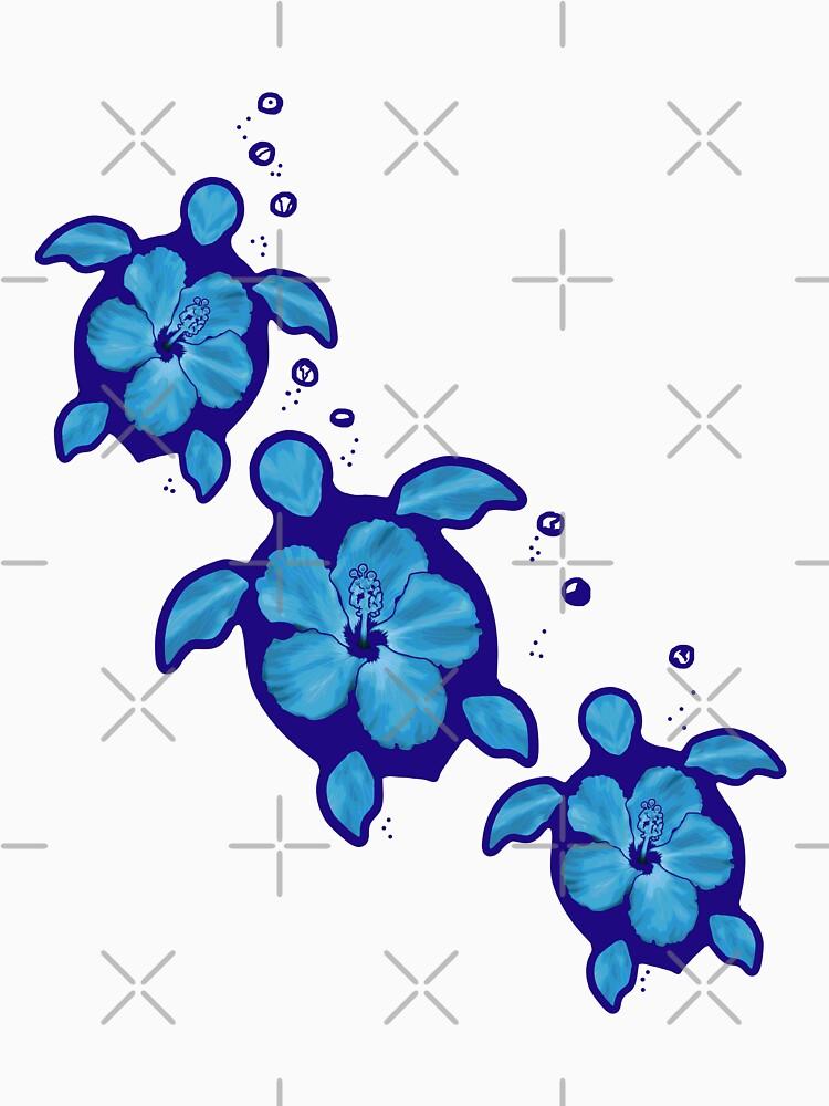 Blaue Honu Hibiscus Schildkröten von BailoutIsland