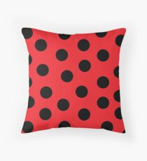 Ladybug Print Throw Pillow
