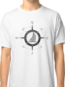Sailboat And Compass Rose Classic T-Shirt