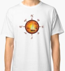 Sailboat And Compass Classic T-Shirt