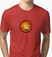 Sailboat And Compass Tri-blend T-Shirt