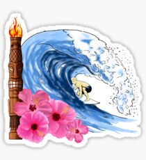 Hawaiian Surfing Sticker