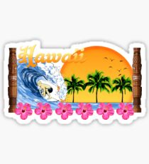 Hawaii Surf Sticker