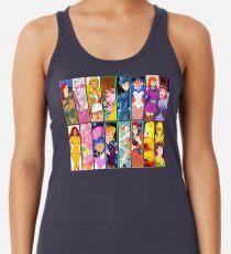 Camiseta con espalda nadadora 80s Girls Totally Radical Cartoon Spectacular !!! - ¡EDICIÓN MUJERES DE ACCIÓN!