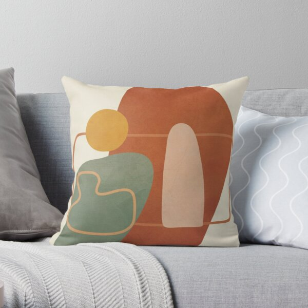 Abstract Shapes / Pastel Throw Pillow