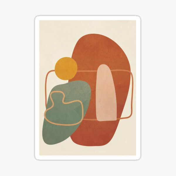 Abstract Shapes / Pastel Sticker