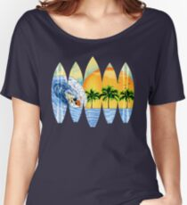 Surfer And Surfboards Women's Relaxed Fit T-Shirt
