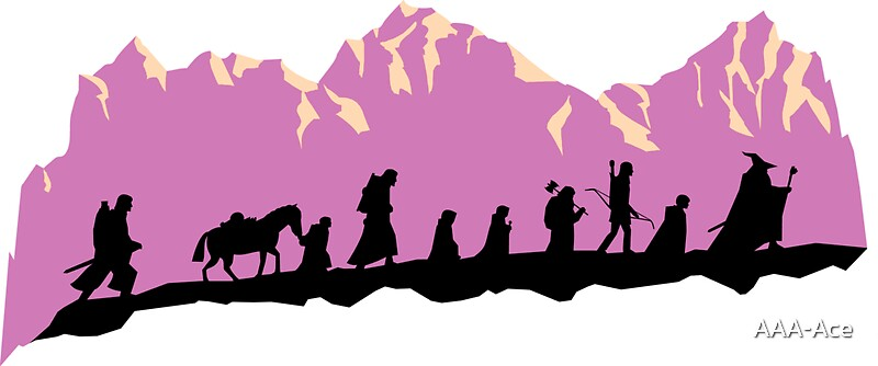 Image result for fellowship of the ring silhouette