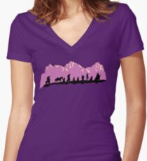 The Fellowship of The Ring Women's Fitted V-Neck T-Shirt