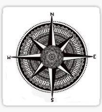 Compass Mandala Sticker