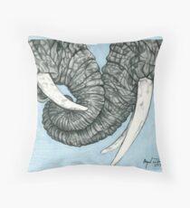 Entangled Elephants Throw Pillow