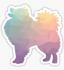 American Eskimo Dog  Eskie Colorful Geometric Silhouette - Pastel Sticker