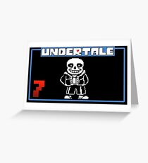 Sans undertale logo Greeting Card