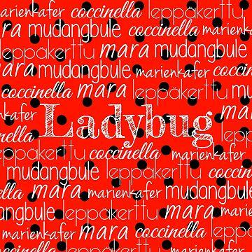 Ladybug Print Typography by LightfulFoxtrot