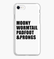 Moony, Wormtail, Padfoot & Prongs iPhone Case/Skin