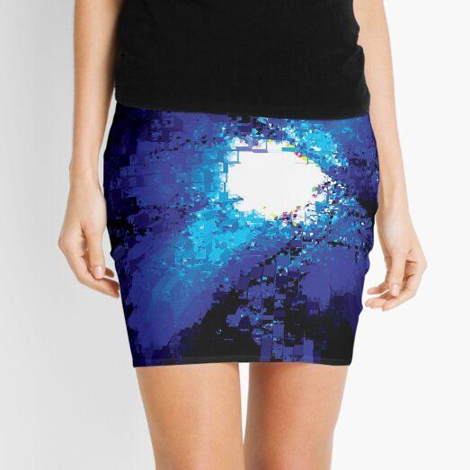 abstract moon Mini Skirt