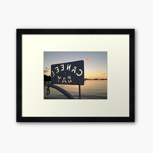 Caneel Bay Sunset Framed Art Print