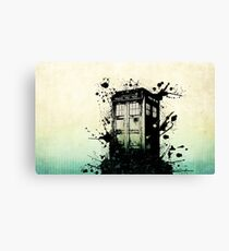 Doctor Who Work Tardi Canvas Print
