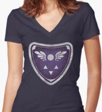 Delta rune v4 Women's Fitted V-Neck T-Shirt