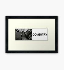 brutalist COVENTRY Framed Print