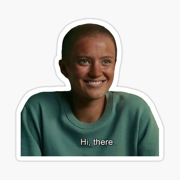 bald Shelby Goodkind the wilds  Sticker