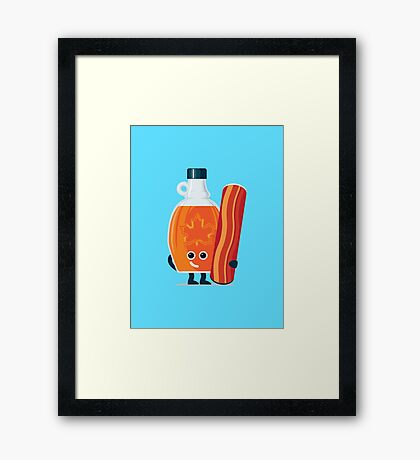 Character Building - Maple & Bacon Framed Print