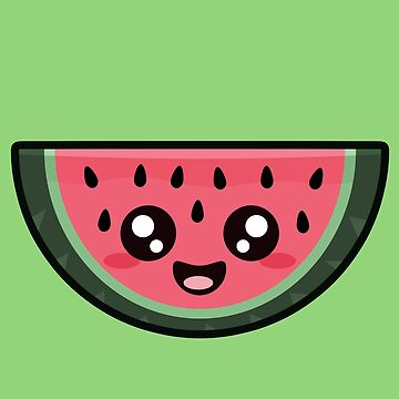 Kawaii Watermelon by NirPerel
