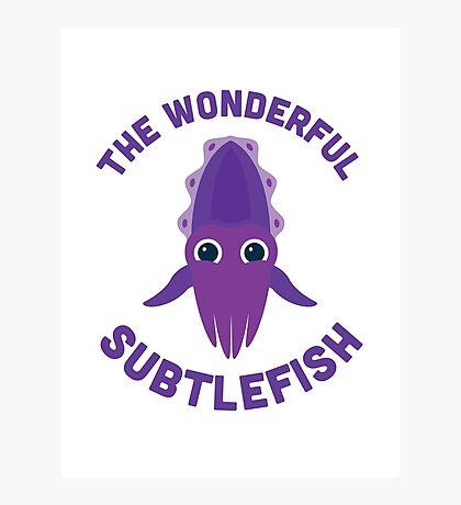 Character Building - The Wonderful Subtlefish Photographic Print