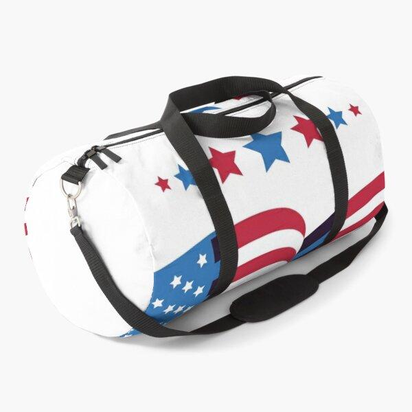 Waving US Flag with Stars Duffle Bag