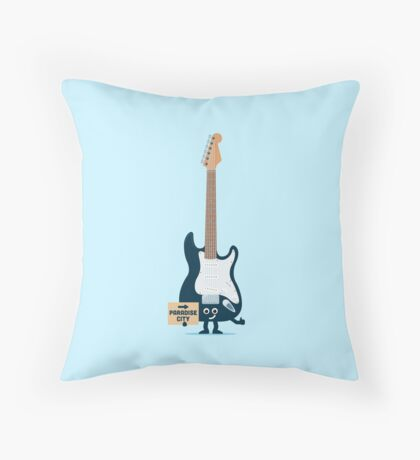 Character Building - TRake me down to the paradise city Throw Pillow