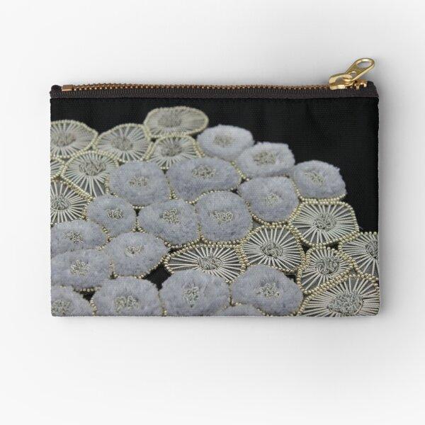 Devastated Coral Zipper Pouch