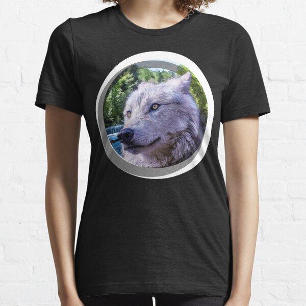 Wild Wolf Oil Paint Graphics Tee Unisex Novelty T-shirt Essential T-Shirt