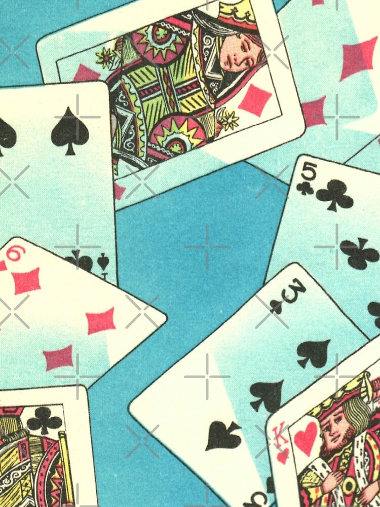 Poker Night - Playing Cards Vintage Illustration by elevens