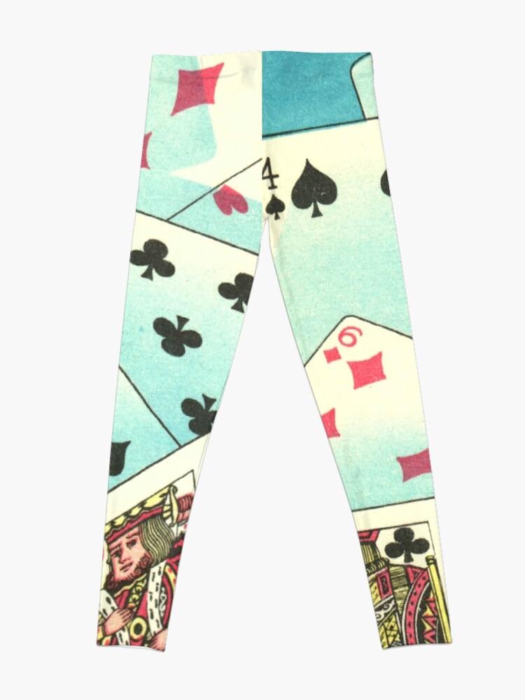 Alternate view of Poker Night - Playing Cards Vintage Illustration Leggings