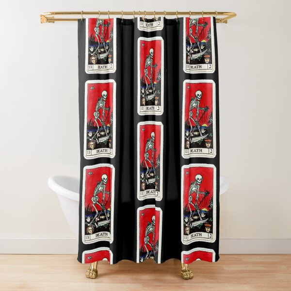Death Tarot Shower Curtain