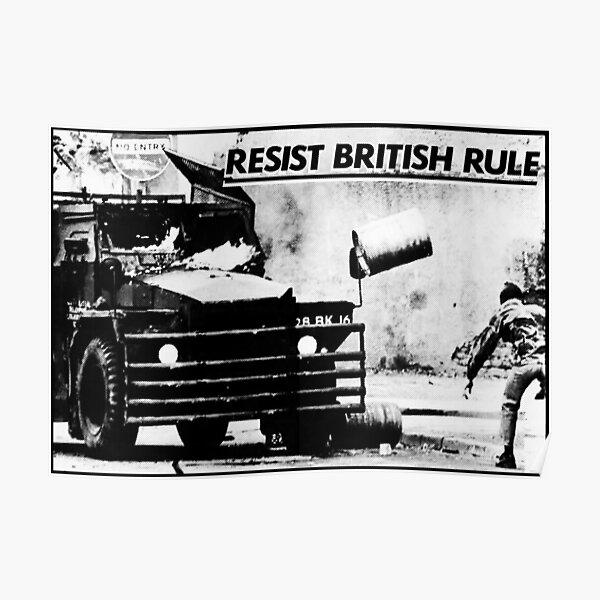 Resist British Rule - Sinn Fein Poster - Ireland - Irish Poster