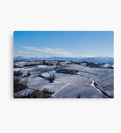 Snow landscape in Piemonte Canvas Print