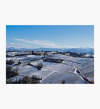 Snow landscape in Piemonte Photographic Print