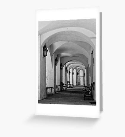 Gallery in b&w Greeting Card