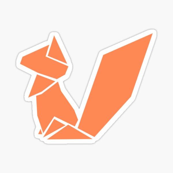 Origami Squirrel illustration Sticker