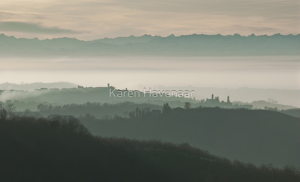 Landscape in Piemonte by Karen Havenaar