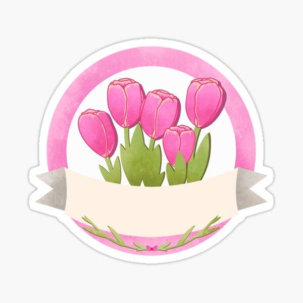Flower Label Tulips  Sticker