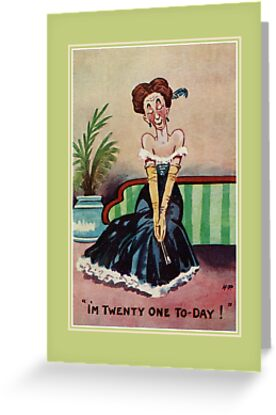 Funny Vintage 21st Birthday For Her By Aapshop