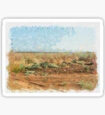 Dry field Sticker