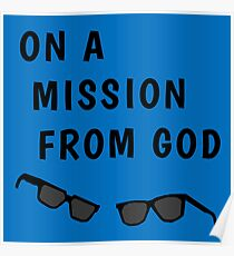 """Blues Borthers: """"On a Mission From God"""" Poster"""