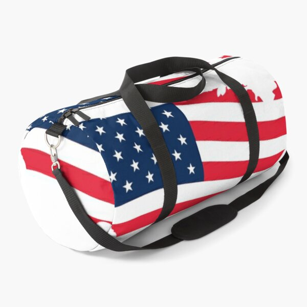 US Map on US Flag with the Independence Date - 4th July Duffle Bag