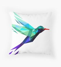 polygonal bird  Throw Pillow