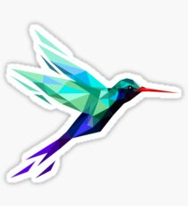 polygonal bird  Sticker