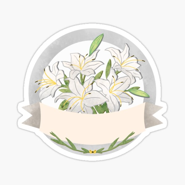 Flower Label Lilies  Sticker