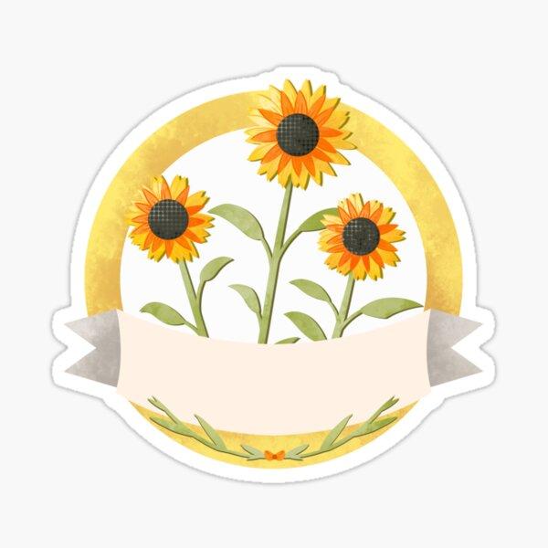 Flower Label Sunflowers Sticker